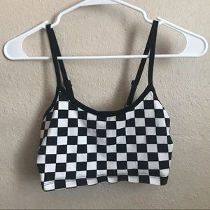 Forever 21 Cropped Checkered Top